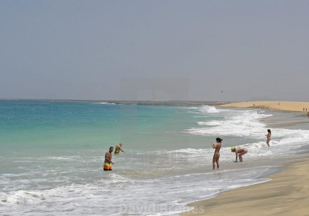 Playa de Ponta Preta en Isla de Sal