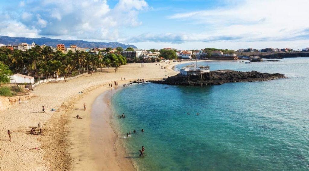 Playa de Tarrafal en Isla Santiago
